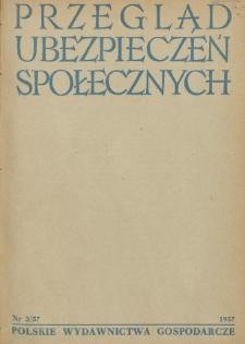 Przegląd Ubezpieczeń Społecznych : 1957, nr 3