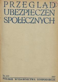 Przegląd Ubezpieczeń Społecznych : 1957, nr 5