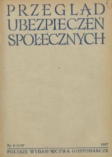 Przegląd Ubezpieczeń Społecznych : 1957, nr 8-9