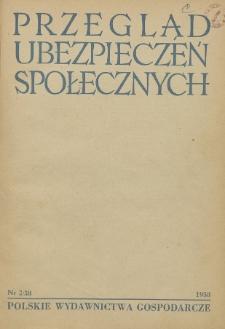 Przegląd Ubezpieczeń Społecznych : 1958, nr 2