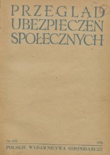 Przegląd Ubezpieczeń Społecznych : 1958, nr 4