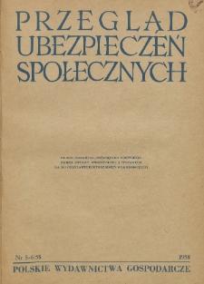 Przegląd Ubezpieczeń Społecznych : 1958, nr 5-6