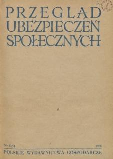 Przegląd Ubezpieczeń Społecznych : 1958, nr 8