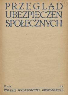 Przegląd Ubezpieczeń Społecznych : 1958, nr 9