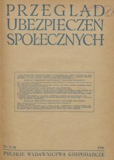 Przegląd Ubezpieczeń Społecznych : 1958, nr 11