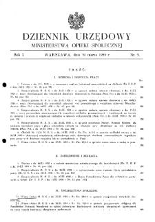Dziennik Urzędowy Ministerstwa Opieki Społecznej : 1935, nr 5
