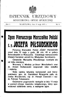 Dziennik Urzędowy Ministerstwa Opieki Społecznej : 1935, nr 8
