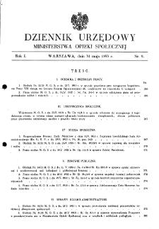 Dziennik Urzędowy Ministerstwa Opieki Społecznej : 1935, nr 9