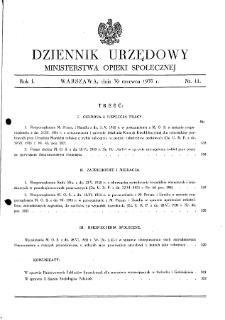 Dziennik Urzędowy Ministerstwa Opieki Społecznej : 1935, nr 11