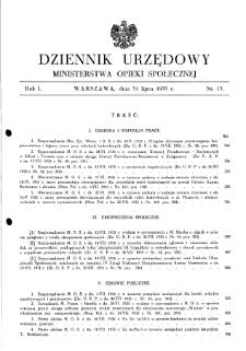 Dziennik Urzędowy Ministerstwa Opieki Społecznej : 1935, nr 13