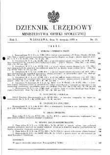 Dziennik Urzędowy Ministerstwa Opieki Społecznej : 1935, nr 15