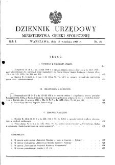 Dziennik Urzędowy Ministerstwa Opieki Społecznej : 1935, nr 16
