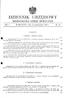 Dziennik Urzędowy Ministerstwa Opieki Społecznej : 1935, nr 18