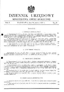 Dziennik Urzędowy Ministerstwa Opieki Społecznej : 1935, nr 23