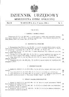 Dziennik Urzędowy Ministerstwa Opieki Społecznej : 1936, nr 5