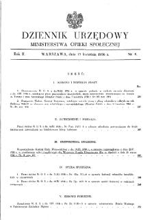 Dziennik Urzędowy Ministerstwa Opieki Społecznej : 1936, nr 8