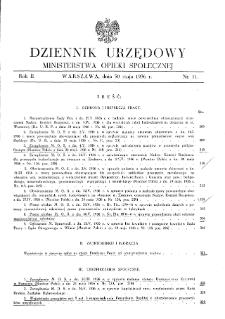 Dziennik Urzędowy Ministerstwa Opieki Społecznej : 1936, nr 11