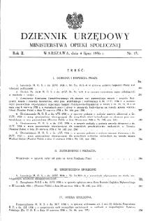 Dziennik Urzędowy Ministerstwa Opieki Społecznej : 1936, nr 13
