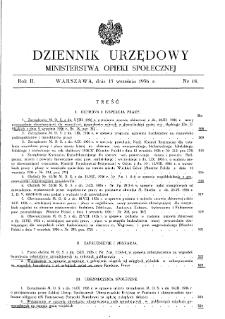Dziennik Urzędowy Ministerstwa Opieki Społecznej : 1936, nr 18