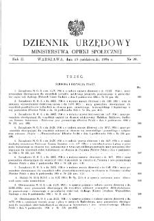 Dziennik Urzędowy Ministerstwa Opieki Społecznej : 1936, nr 20