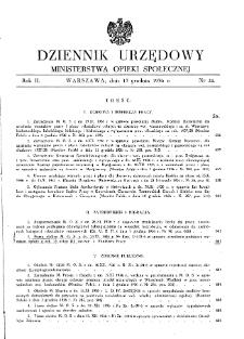 Dziennik Urzędowy Ministerstwa Opieki Społecznej : 1936, nr 24