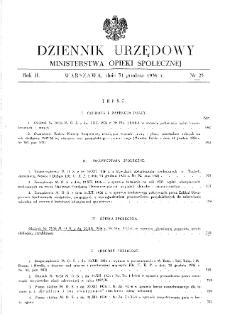 Dziennik Urzędowy Ministerstwa Opieki Społecznej : 1936, nr 25