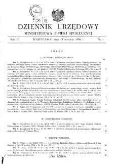 Dziennik Urzędowy Ministerstwa Opieki Społecznej : 1937, nr 1