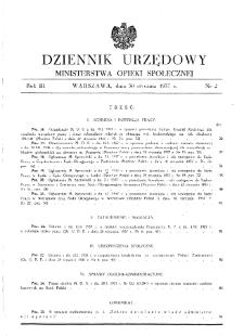 Dziennik Urzędowy Ministerstwa Opieki Społecznej : 1937, nr 2