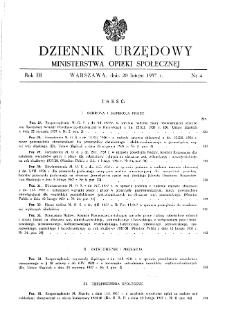 Dziennik Urzędowy Ministerstwa Opieki Społecznej : 1937, nr 4