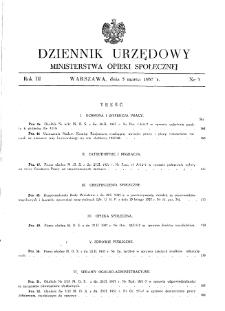 Dziennik Urzędowy Ministerstwa Opieki Społecznej : 1937, nr 5