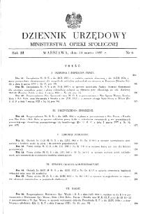 Dziennik Urzędowy Ministerstwa Opieki Społecznej : 1937, nr 6