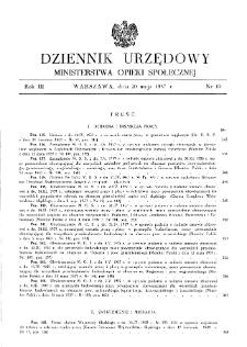 Dziennik Urzędowy Ministerstwa Opieki Społecznej : 1937, nr 10