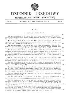 Dziennik Urzędowy Ministerstwa Opieki Społecznej : 1937, nr 11