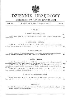 Dziennik Urzędowy Ministerstwa Opieki Społecznej : 1937, nr 18