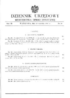 Dziennik Urzędowy Ministerstwa Opieki Społecznej : 1937, nr 19