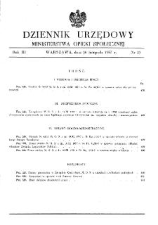 Dziennik Urzędowy Ministerstwa Opieki Społecznej : 1937, nr 23