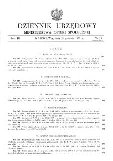 Dziennik Urzędowy Ministerstwa Opieki Społecznej : 1937, nr 25