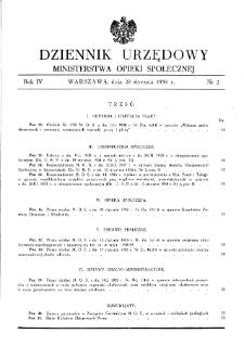 Dziennik Urzędowy Ministerstwa Opieki Społecznej : 1938, nr 2