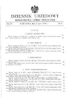Dziennik Urzędowy Ministerstwa Opieki Społecznej : 1938, nr 6