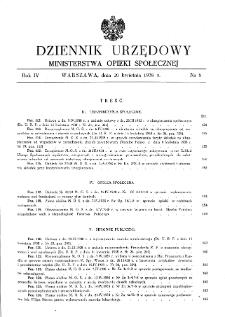 Dziennik Urzędowy Ministerstwa Opieki Społecznej : 1938, nr 8