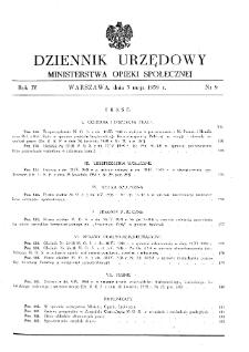 Dziennik Urzędowy Ministerstwa Opieki Społecznej : 1938, nr 9