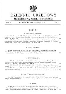 Dziennik Urzędowy Ministerstwa Opieki Społecznej : 1938, nr 11