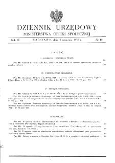 Dziennik Urzędowy Ministerstwa Opieki Społecznej : 1938, nr 18