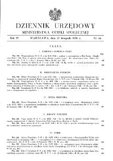 Dziennik Urzędowy Ministerstwa Opieki Społecznej : 1938, nr 24