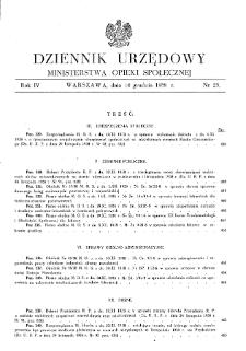 Dziennik Urzędowy Ministerstwa Opieki Społecznej : 1938, nr 25