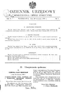 Dziennik Urzędowy Ministerstwa Opieki Społecznej : 1939, nr 3