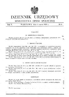 Dziennik Urzędowy Ministerstwa Opieki Społecznej : 1939, nr 6