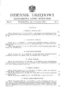 Dziennik Urzędowy Ministerstwa Opieki Społecznej : 1939, nr 8