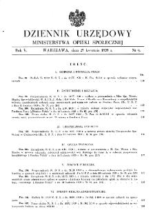 Dziennik Urzędowy Ministerstwa Opieki Społecznej : 1939, nr 9