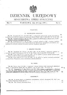 Dziennik Urzędowy Ministerstwa Opieki Społecznej : 1939, nr 11